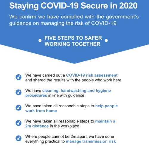 William Cook sites are COVID-19 secure thumbnail